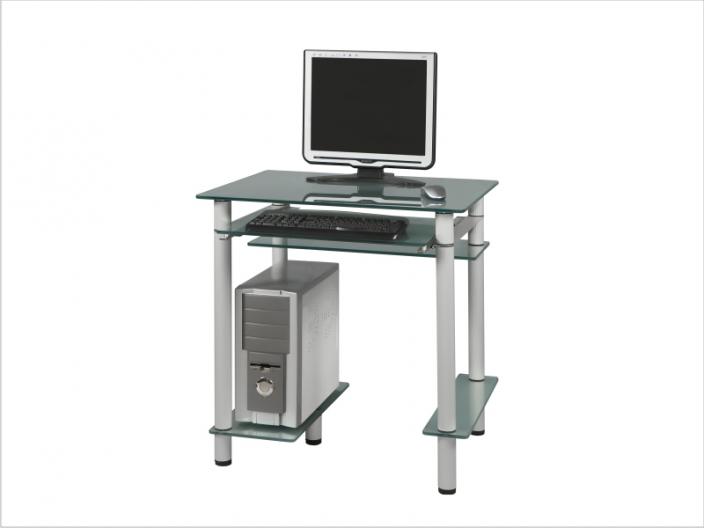 Стеклянный компьютерный стол СТ-25-01
