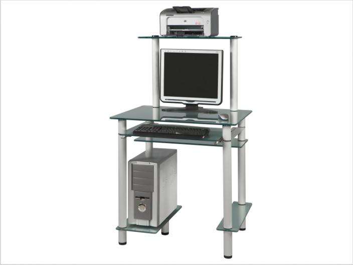 Стеклянный компьютерный стол СТ-25