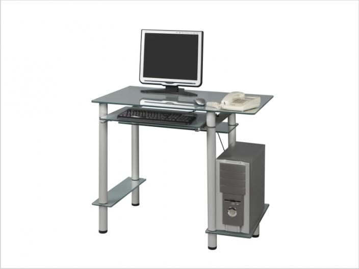 Стеклянный компьютерный стол СТ-26-01