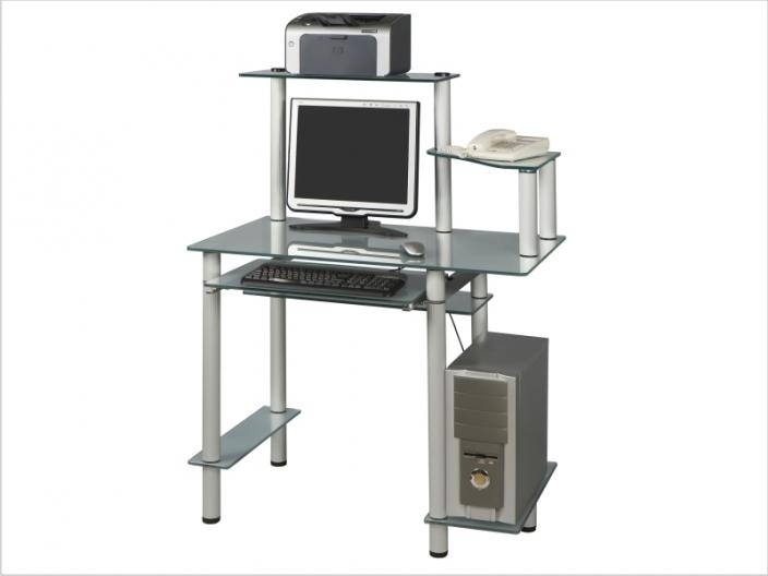 Стеклянный компьютерный стол СТ-26