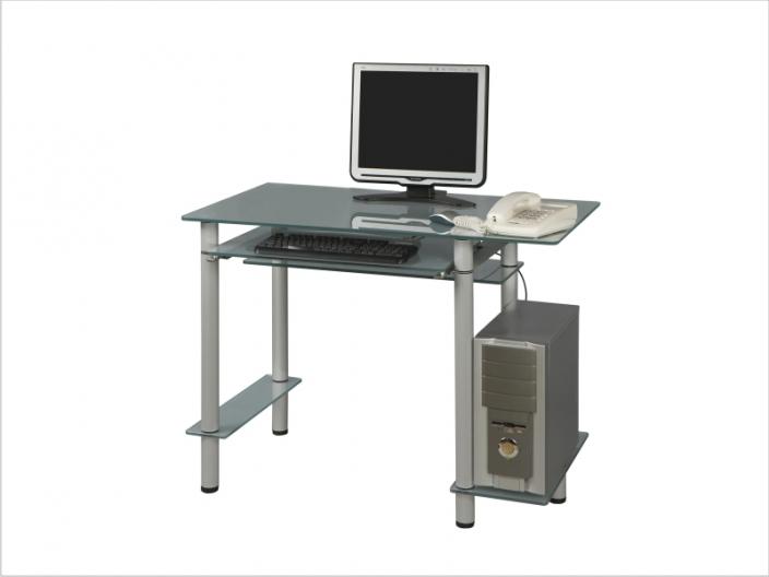 Стеклянный компьютерный стол СТ-27-01