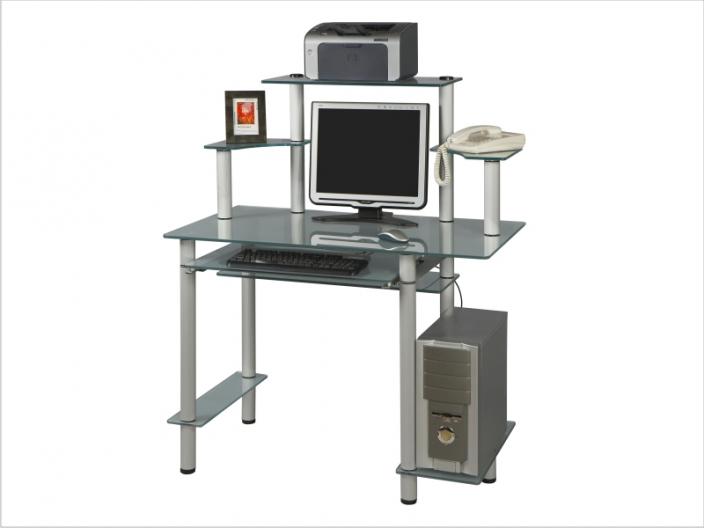 Стеклянный компьютерный стол СТ-27