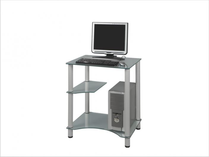 Стеклянный компьютерный стол СТ-28-01