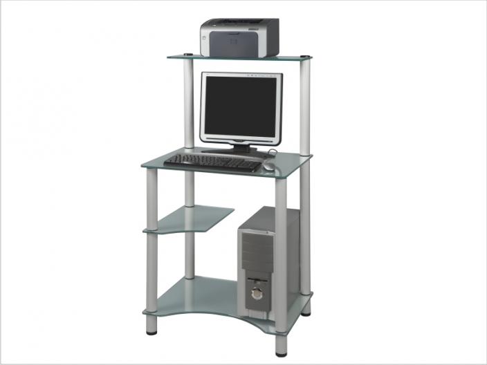 Стеклянный компьютерный стол СТ-28