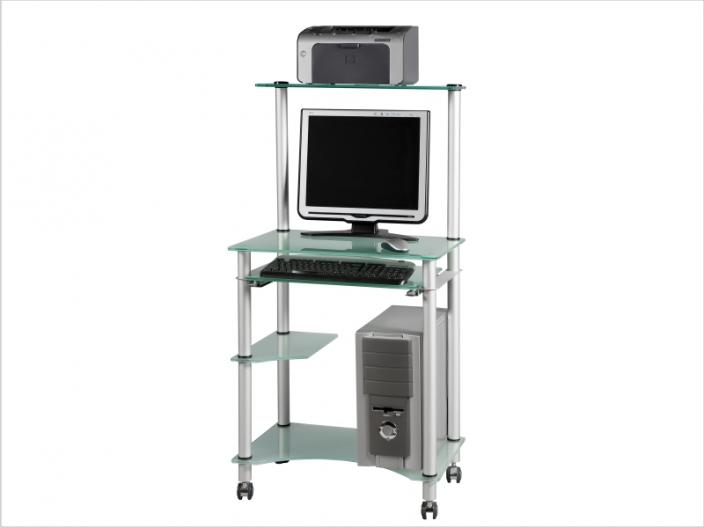 Стеклянный компьютерный стол СТ-29