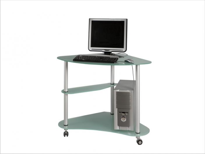 Стеклянный компьютерный стол СТ-30-01