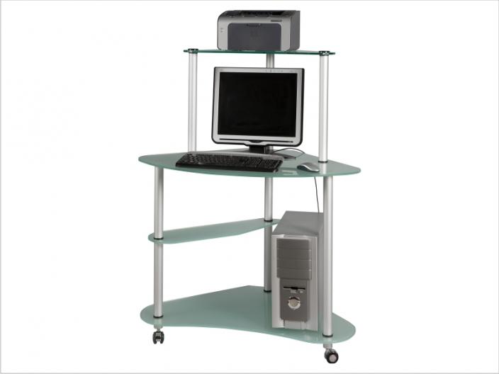 Стеклянный компьютерный стол СТ-30