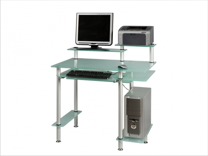 Стеклянный компьютерный стол СТ-31