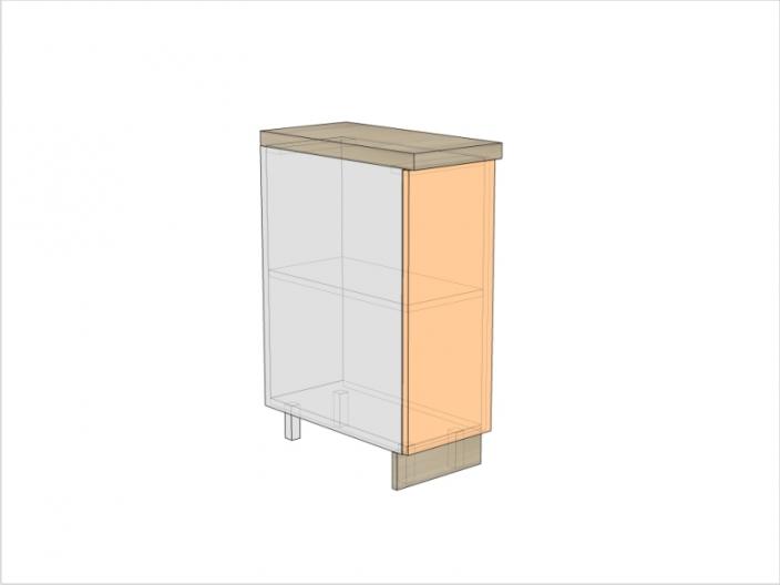 Тумба кухонная ТБК-820-300-1ДГ (РАДУГА)