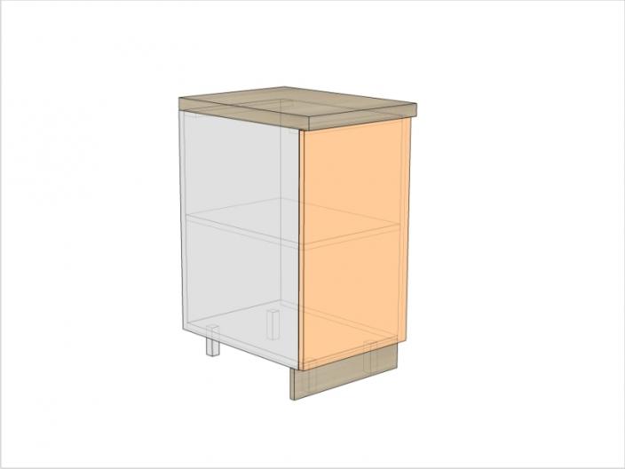 Тумба кухонная ТБК-820-400-1ДГ (РАДУГА)