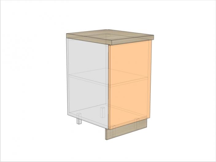 Тумба кухонная ТБК-820-500-1ДГ (РАДУГА)
