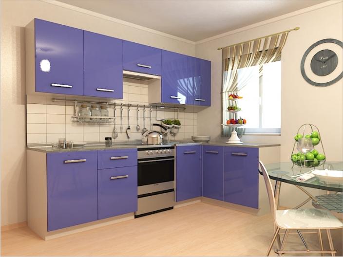 Кухонный гарнитур РАДУГА-2700/1500 (Фасады МДФ цветные, 8 расцветок)