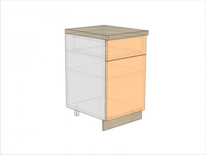 Тумба кухонная ТБК-820-500-1Я-1ДГ (РАДУГА)
