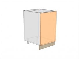 Тумба кухонная под мойку ТБКМ-820-500-1ДГ (РАДУГА)