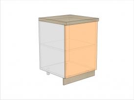 Тумба кухонная ТБК-820-600-1ДГ (РАДУГА)