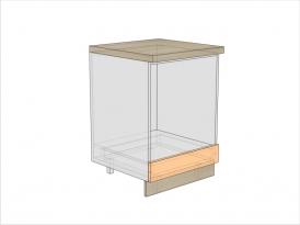 Тумба кухонная ТБКД-820-600-1Я (РАДУГА)
