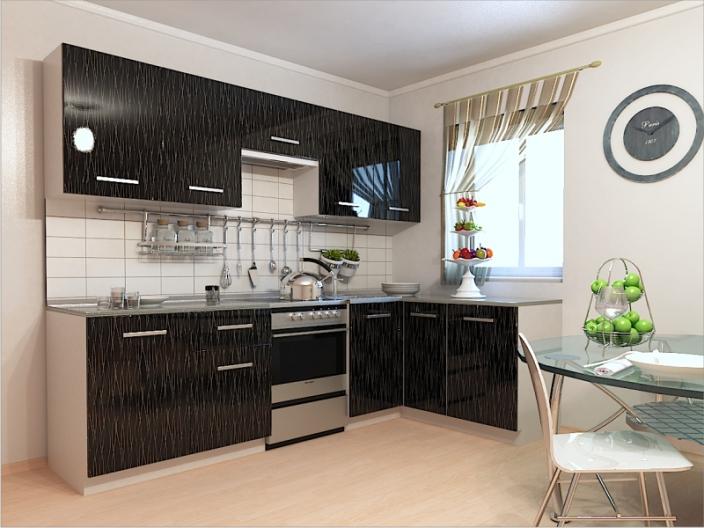 Кухонный гарнитур РАДУГА-2700/1500 (Фасад МДФ