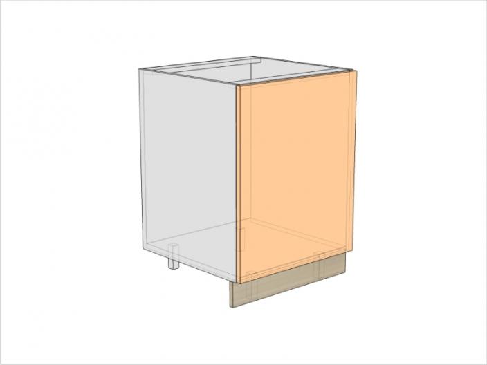 Тумба кухонная под мойку ТБКМ-820-600-1ДГ (РАДУГА)