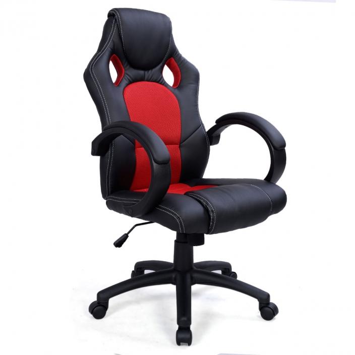 Геймерское кресло MaDXRacer 09545WH-RE