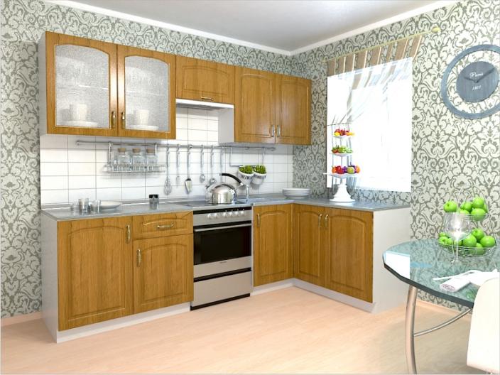 Кухонный гарнитур РАДУГА-2500/1500 (Фасад МДФ филенка Ф2, 4 расцветки)