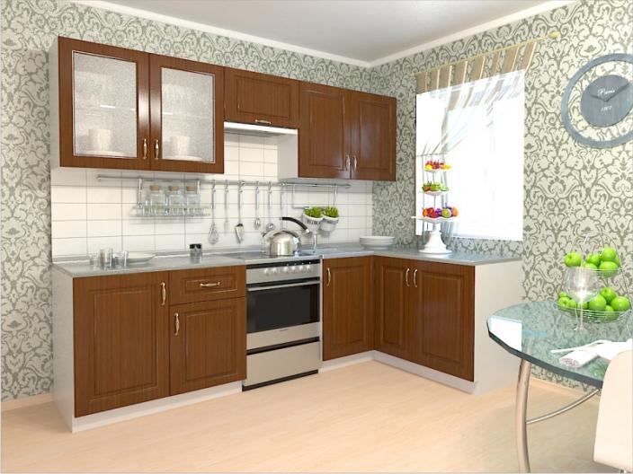 Кухонный гарнитур РАДУГА-2500/1500 (Фасад МДФ филенка Ф3, 4 расцветки)