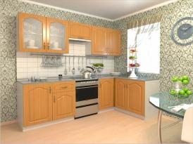Кухонный гарнитур РАДУГА-2500/1500 (Фасад МДФ филенка Ф5, 4 расцветки)