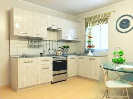 """Кухонный гарнитур РАДУГА-2700/1500 (Фасад МДФ """"дождь"""", 2 расцветки)"""