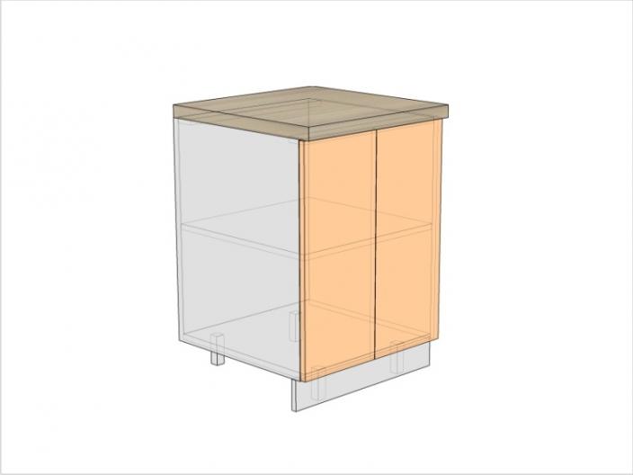 Тумба кухонная ТБК-820-600-2ДГ (РАДУГА)