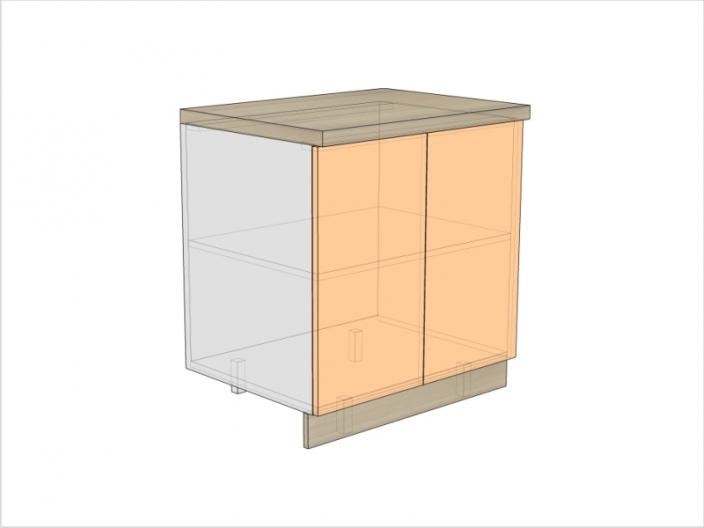 Тумба кухонная ТБК-820-800-2ДГ (РАДУГА)