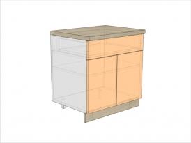 Тумба кухонная ТБК-820-800-1Я-2ДГ (РАДУГА)