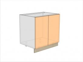 Тумба кухонная под мойку ТБКМ-820-800-2ДГ (РАДУГА)