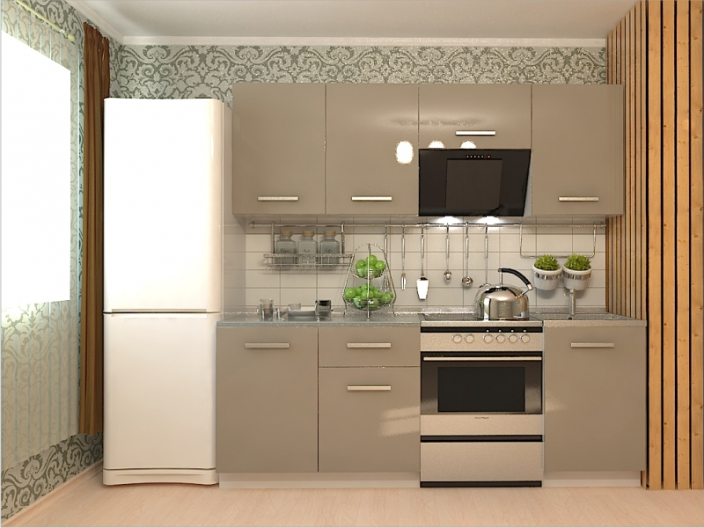 Кухонный гарнитур РАДУГА-2100 (Фасады МДФ цветные, 8 расцветок)