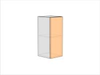 Шкаф кухонный ШКК-720-300-1ДГ (РАДУГА)