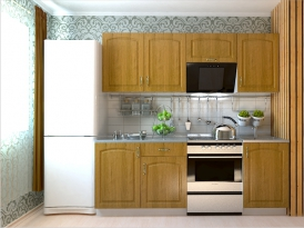 Кухонный гарнитур РАДУГА-2100 (Фасад МДФ филенка Ф2, 4 расцветки)