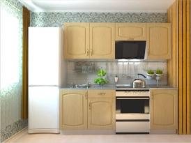 Кухонный гарнитур РАДУГА-2100 (Фасад МДФ филенка Ф4, 4 расцветки)