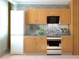 Кухонный гарнитур РАДУГА-2100 (Фасад МДФ филенка Ф5, 4 расцветки)