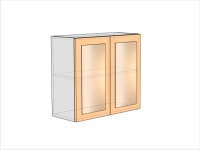Шкаф кухонный ШКК-720-800-2ДО (РАДУГА)