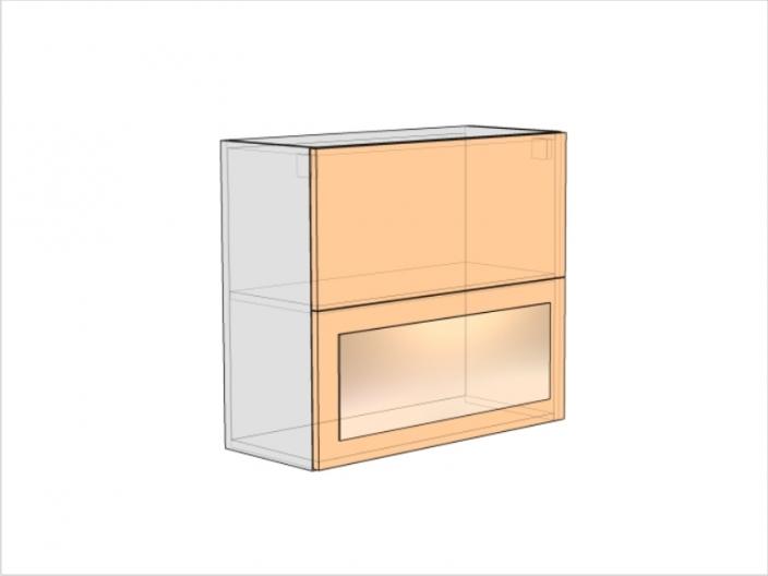 Шкаф кухонный ШККП-720-800-1ДГ-1ДО (РАДУГА)