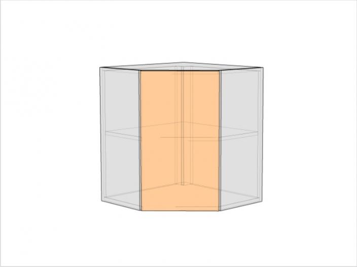 Шкаф кухонный ШКУ-720-900-1ДГ (РАДУГА)
