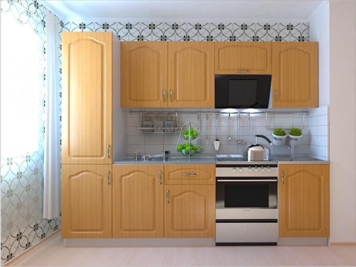 Кухонный гарнитур РАДУГА-2600 (Фасад МДФ филенка Ф5, 4 расцветки)