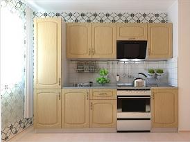 Кухонный гарнитур РАДУГА-2600 (Фасад МДФ филенка Ф4, 4 расцветки)