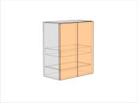 Шкаф кухонный под сушку ШККС-720-600-2ДГ (РАДУГА)