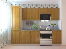 Кухонный гарнитур РАДУГА-2600 (Фасад МДФ филенка Ф2, 4 расцветки)
