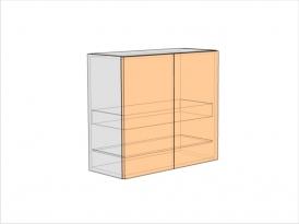 Шкаф кухонный под сушку ШККС-720-800-2ДГ (РАДУГА)