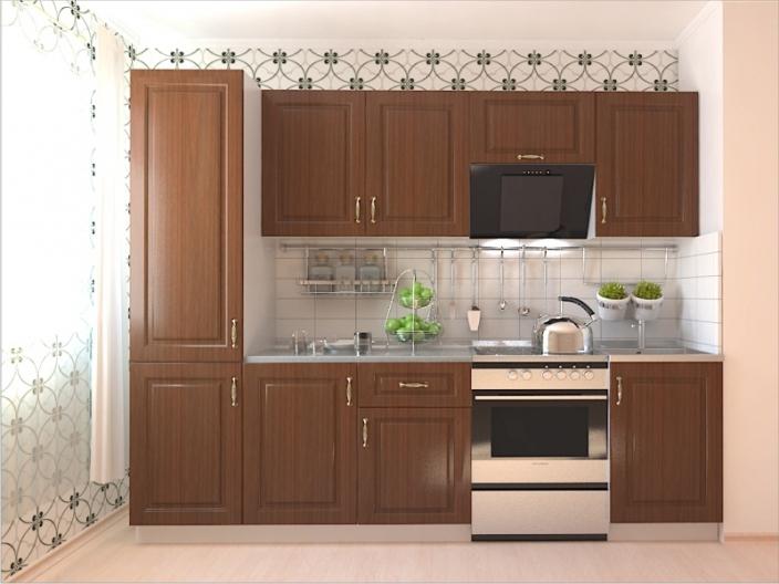 Кухонный гарнитур РАДУГА-2600 (Фасад МДФ филенка Ф3, 4 расцветки)