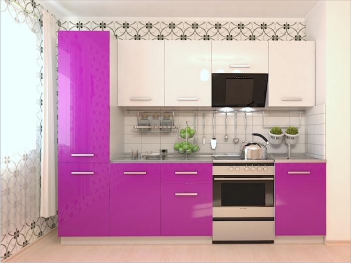 Кухонный гарнитур РАДУГА-2600 (Фасады МДФ цветные, 6 расцветок)
