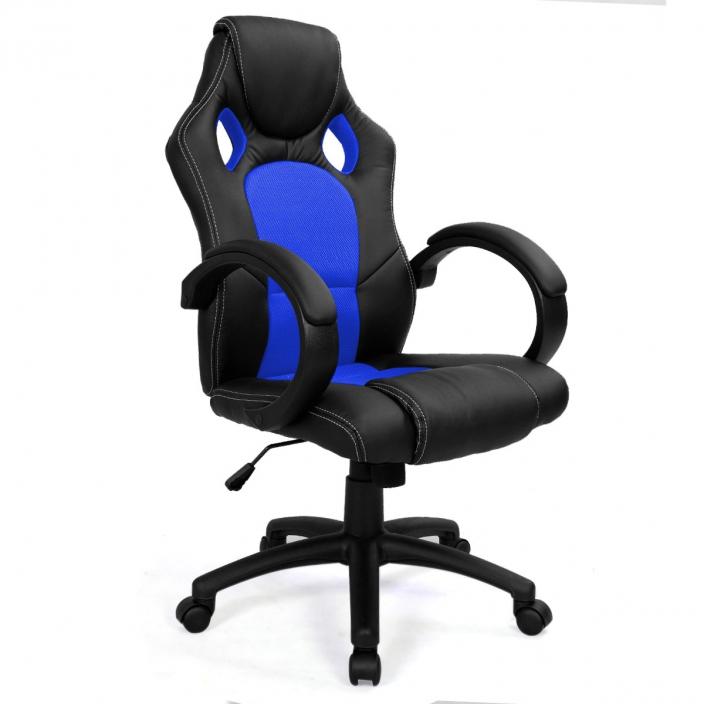 Геймерское кресло MaDXRacer 09545WH-BL