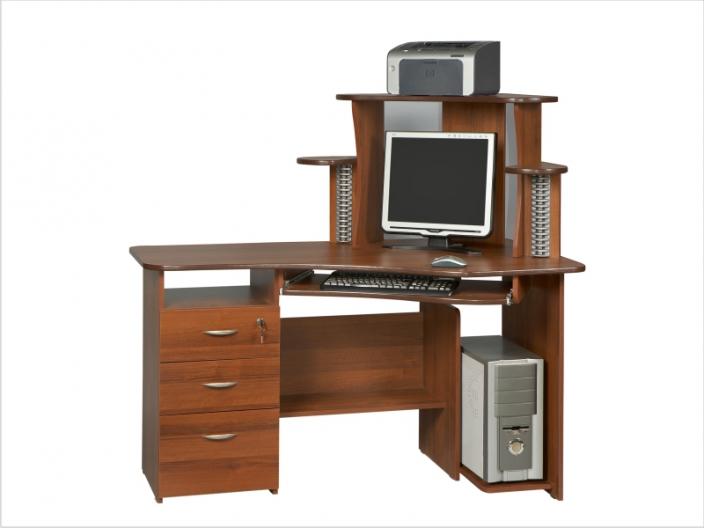 Компьютерный стол с надстройкой КС-34СМ-34НУ