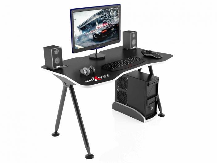 Стол игровой компьютерный MaDXRacer GAMING DESK GTT13/BW
