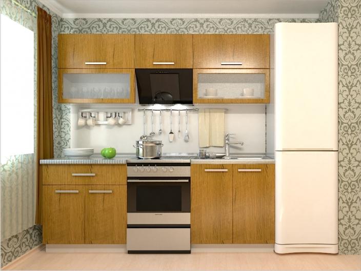 Кухонный гарнитур РАДУГА-2200 (Фасад МДФ филенка Ф1, 4 расцветки)